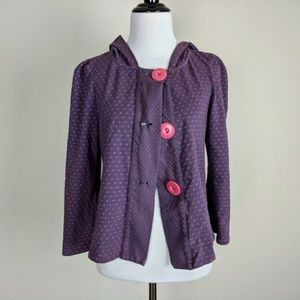 Kimchi Blue Purple Pink Polka Dot Babydoll Jacket